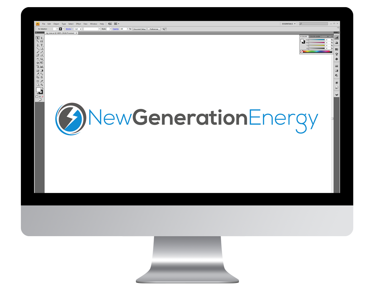 New Generation Energy Company Branding