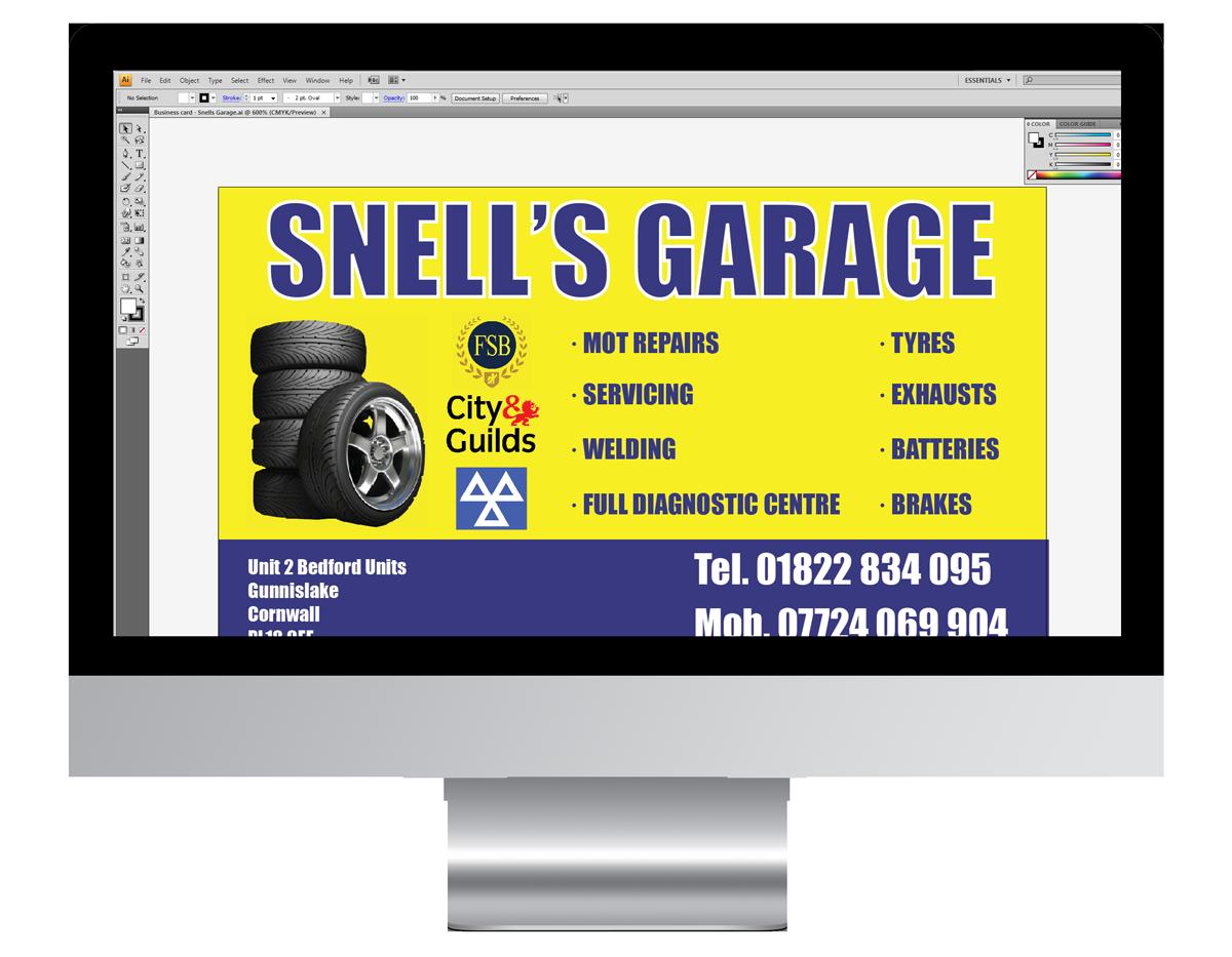 Snells Garage Printed Materials