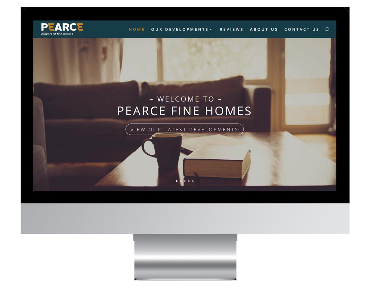 Pearce Fine Homes Web Design
